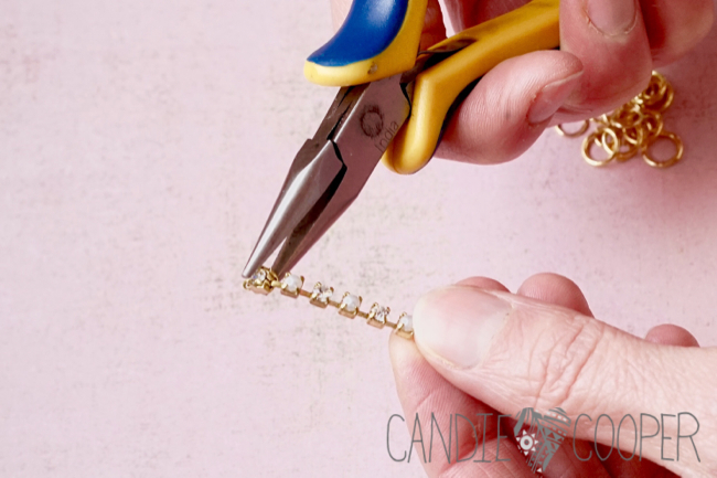 DIY Jewelry how to make these crystal earrings from Candie Cooper3