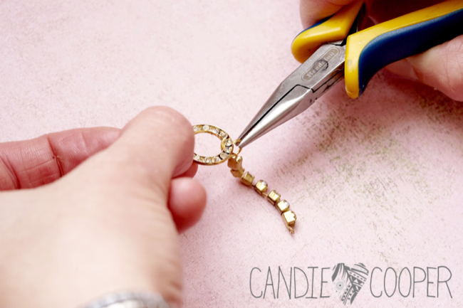 DIY Jewelry how to make these crystal earrings from Candie Cooper6