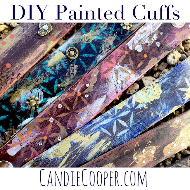 How to paint and embellish leather cuff bracelets LeatherCordUSA.com
