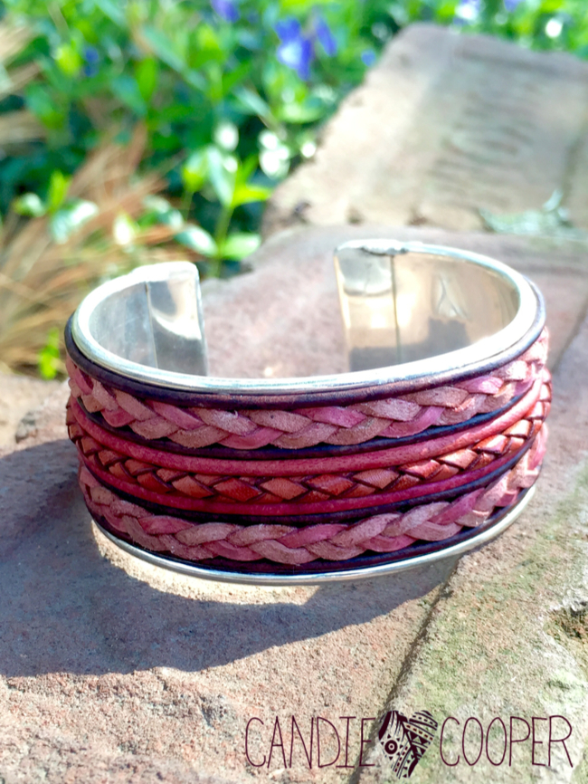 DIY Leather Jewelry Making: How to make a cuff bracelet with inlaid leather on Candie Coopers blog3