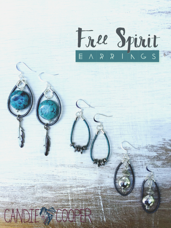 Leather Jewelry Making Free Spirit Leather Earrings with leather from LeatherCordUSA from Candie Cooper13