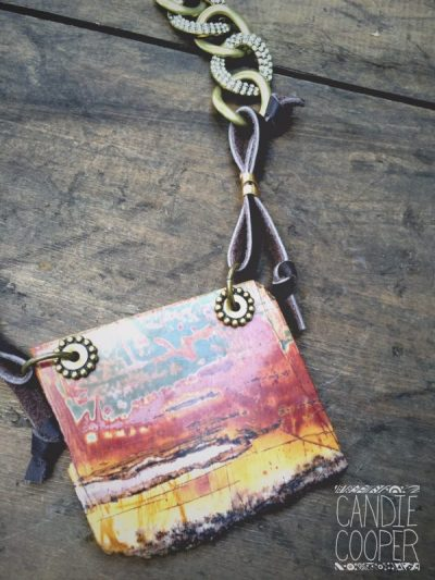 Stone Slab Necklace Pendant Detail