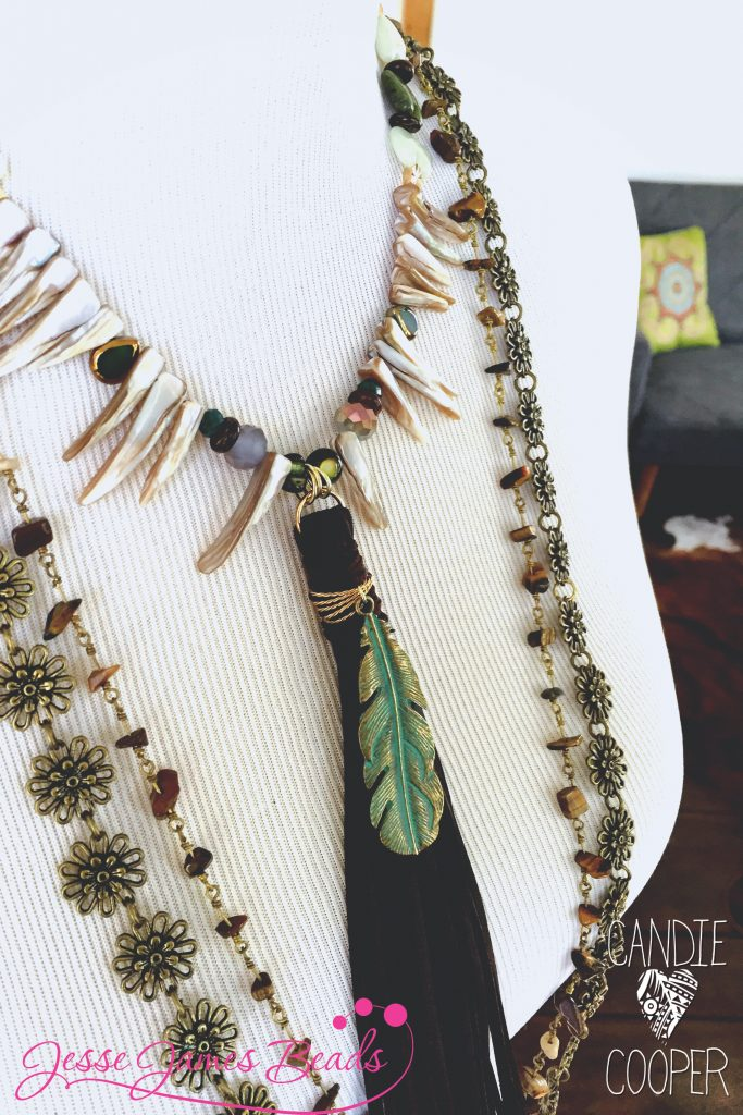 In To The Woods Tassel Necklace by Candie Coooper