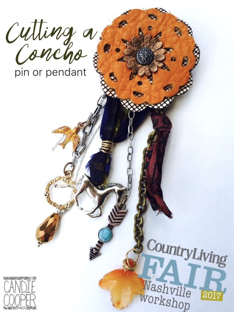 Country Living Fair Cutting a Concho Pin or Pendant