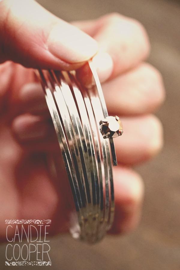 Flat Memory wire bracelet