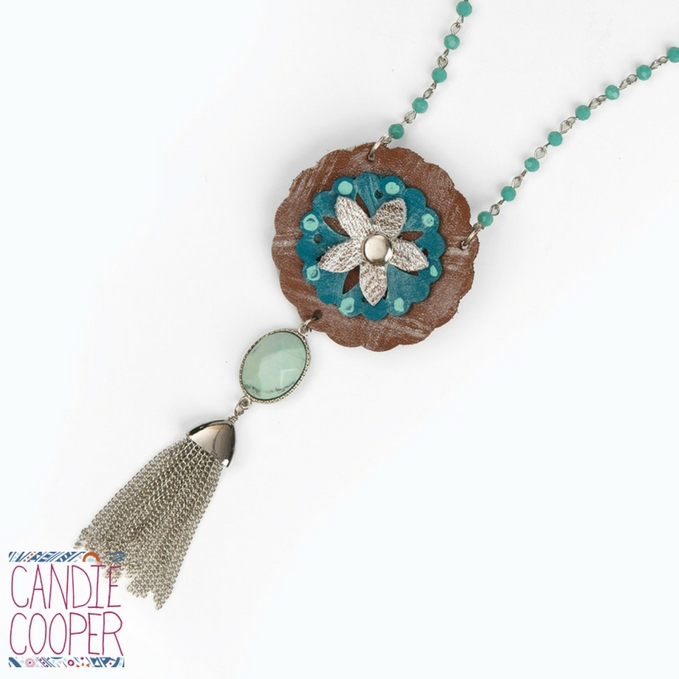 Concho Die Pendant Necklace with Tassel