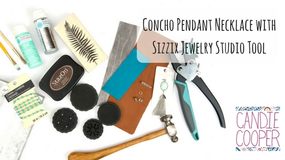 How to make a concho pendant necklace with the Sizzix Jewelry Studio Tool