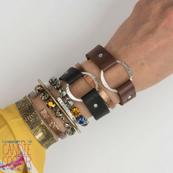 It's a Snap Leather Bracelet made with the Sizzix Jewelry Studio Tool