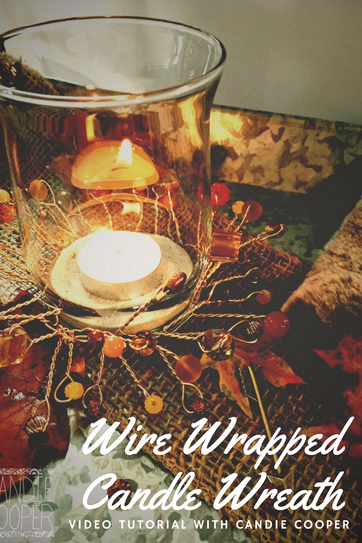 Wire Wrapped Candle Wreaths