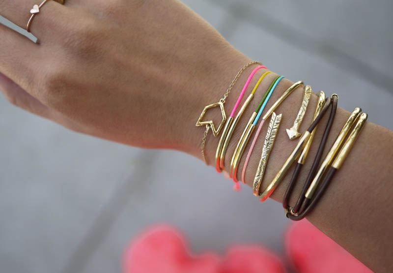 Easy and Quick Holiday Projects-Gold Tube Bracelets