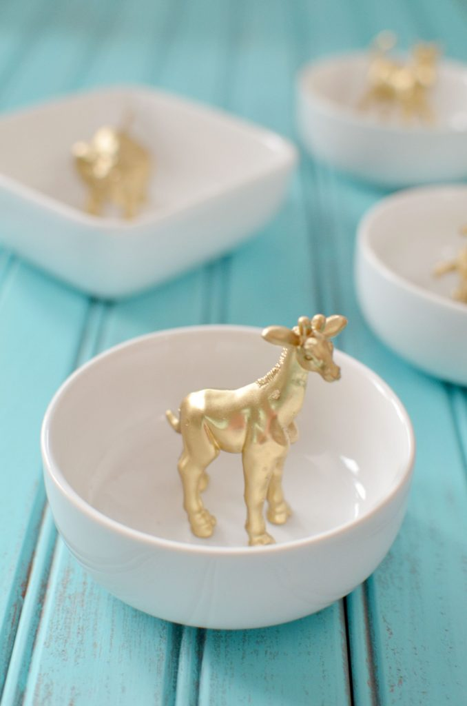 Quick and Easy Holiday Gifts-Gold Animal Ring Dish