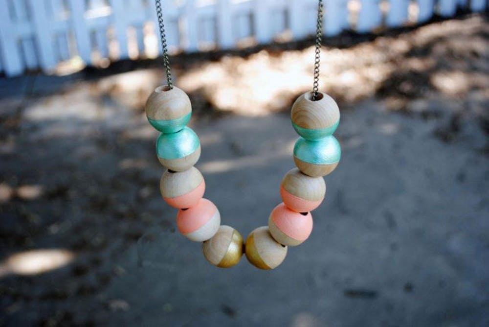 Easy and Quick Holiday Gifts-Painted Wooden Necklace
