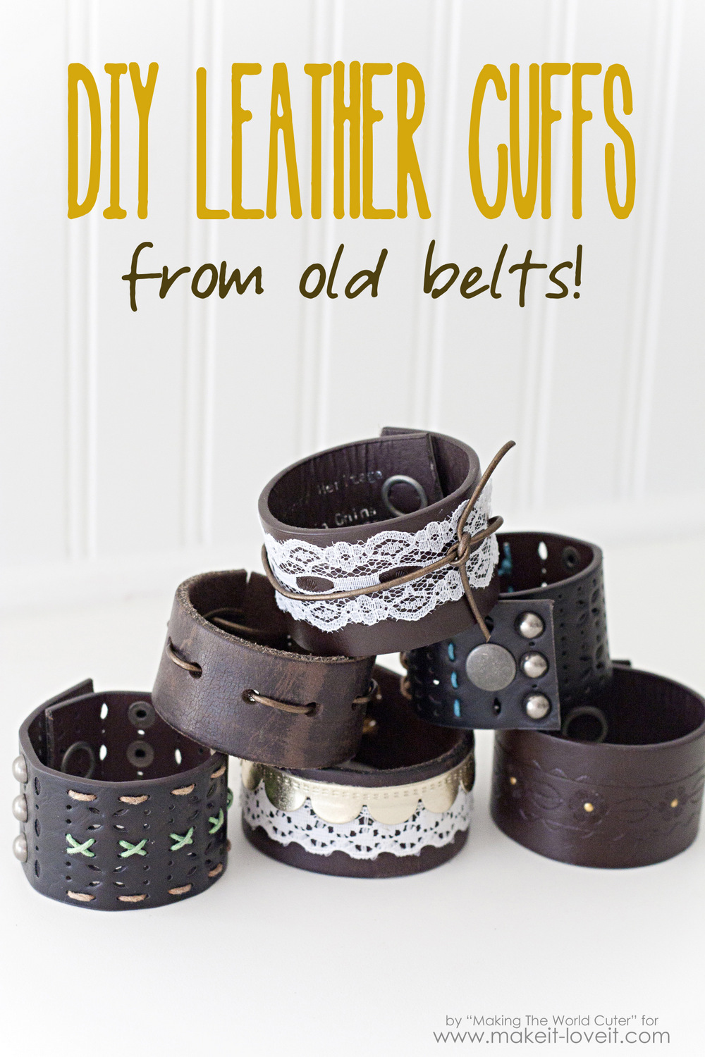 Easy and Quick Holiday Gifts-DIY Leather Cuffs