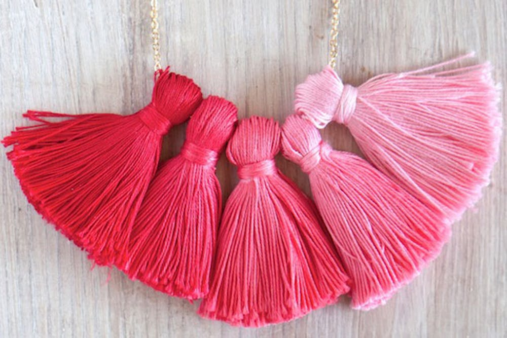 Quick and Easy Holiday Gifts-Ombre Tassel Necklace